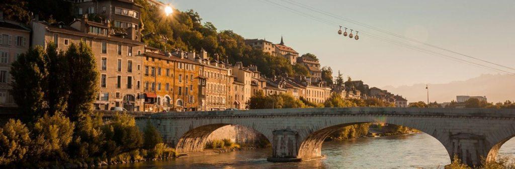 Photo du téléphérique de Grenoble Bastille