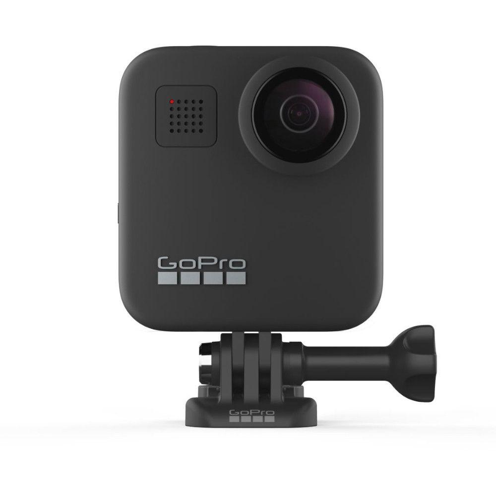 Photo du recto de la GoPro Max avec le système d'accroche par clip GoPro