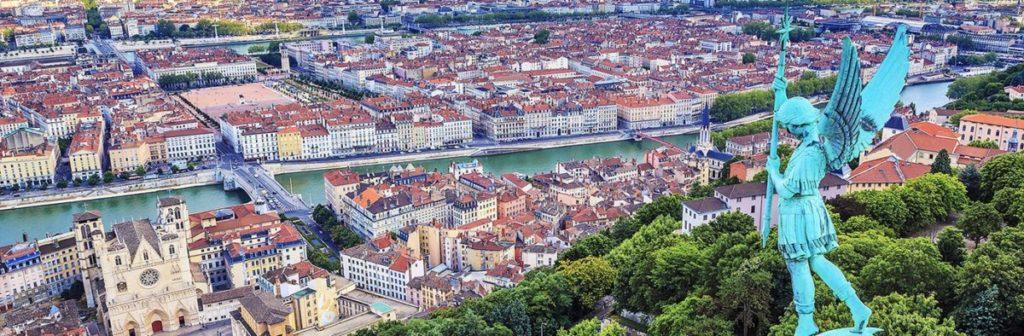 Photo de Lyon depuis Notre-Dame de Fourvière
